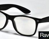 Rave Glasses Black Gloss - Raveneyes Optics Diffraction Grating Glasses (rainbow/prism/firework) VIDEO