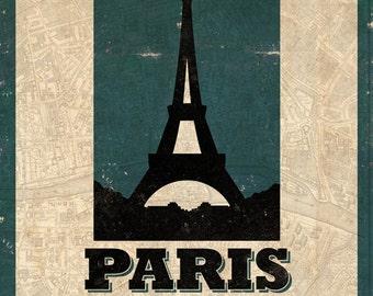 Paris Grunge Print