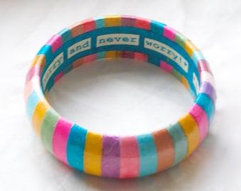 Rainbow bracelet, rainbow bangle, neon bangle, neon bracelet, eighties jewelry, eighties bracelet, 80s bangle, 80s bracelet, funky, colorful