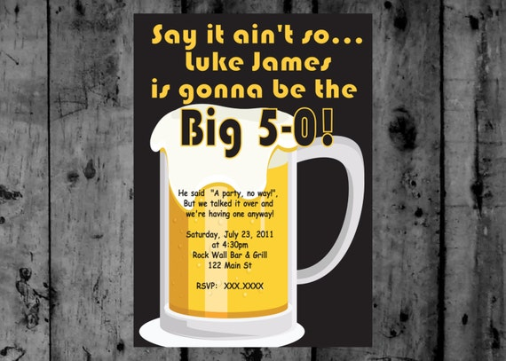 Birthday Wishes Male Beer ~ Adult male beer birthday party printable invitation
