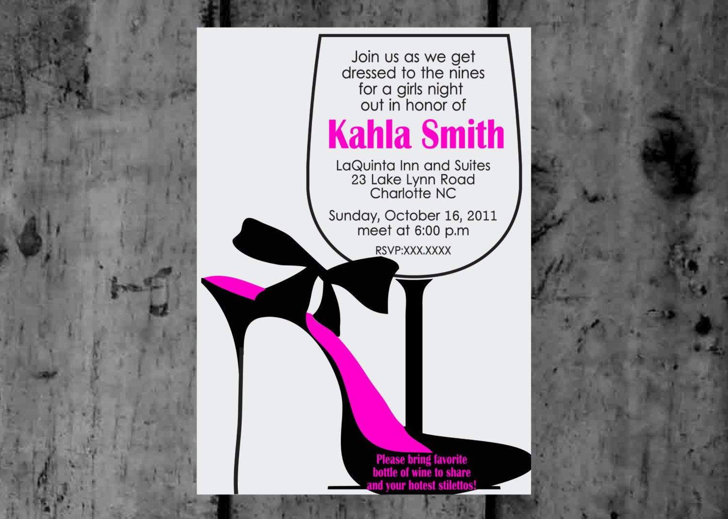 Girls Night Out Invitation is luxury invitations layout