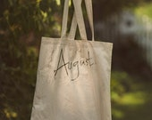 August Ivory Cotton Tote