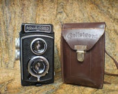 Vintage 1938 Rolleicord IIb Medium Format TLR Camera with Leather Case