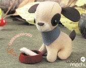 Felt Puppy with Bowl & Bone Hand Sewing Kit - Make Your Own Felt Plush