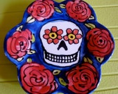 Day of the Dead Miniature Flower Plate