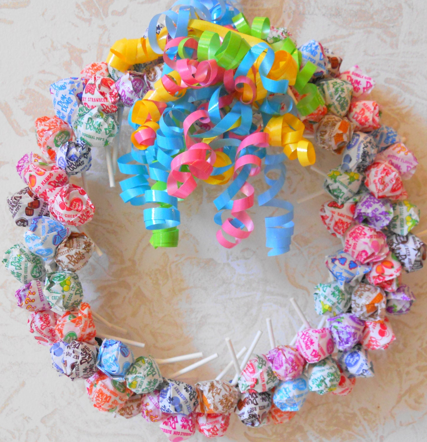 Candy Wreath Dum Dum Lollipop Birthday Party