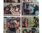 Catwoman and Bane Coasters / Comic Book Art Ceramic Tiles - Batman Knightfall