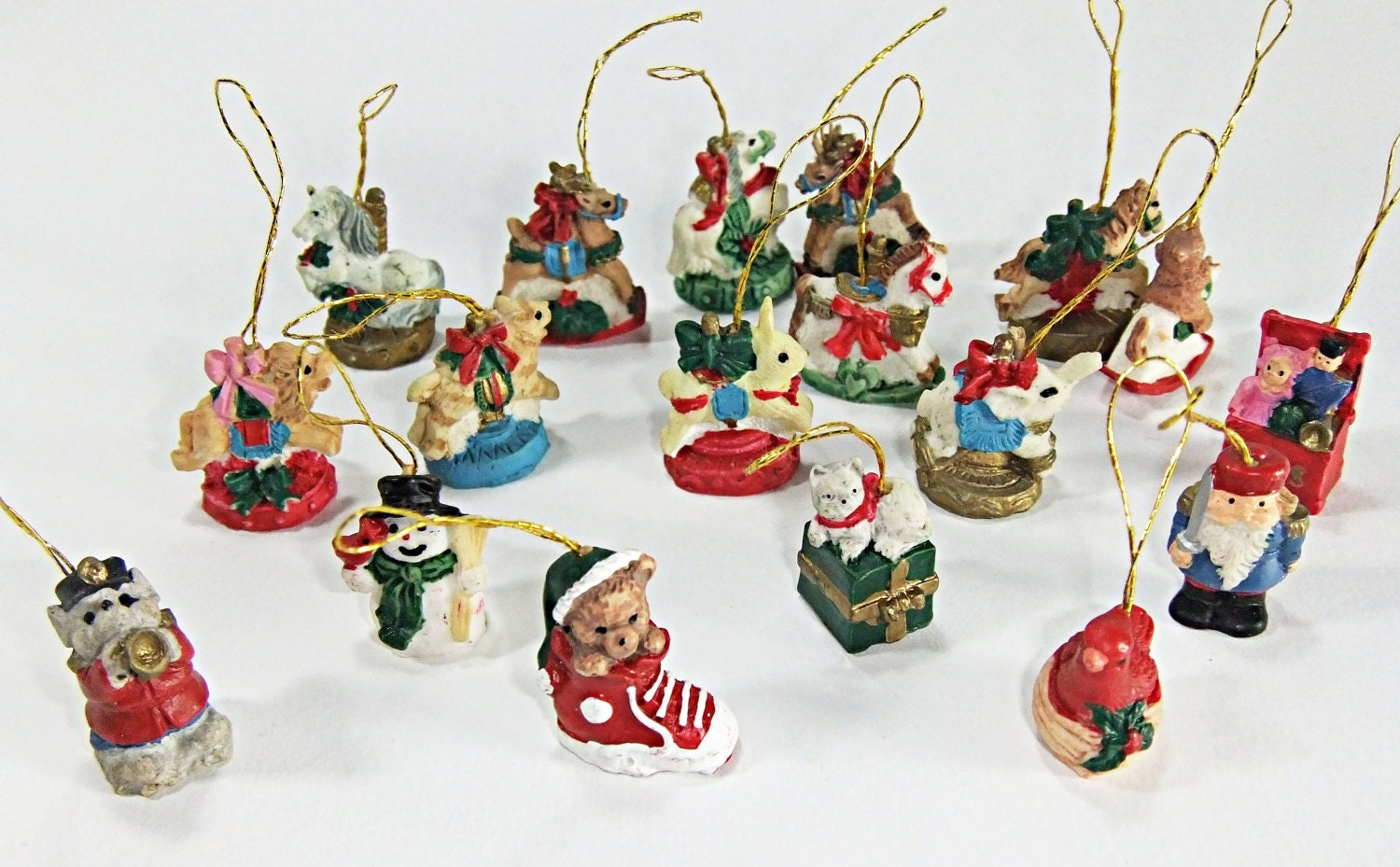 Miniature christmas tree ornaments miniature ornaments big lot for Small christmas decorations