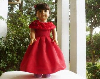 American girl, Handmade, Holiday Dress, Christmas Dress , Doll outfit, Costume, Dolls Apparel, Kids.