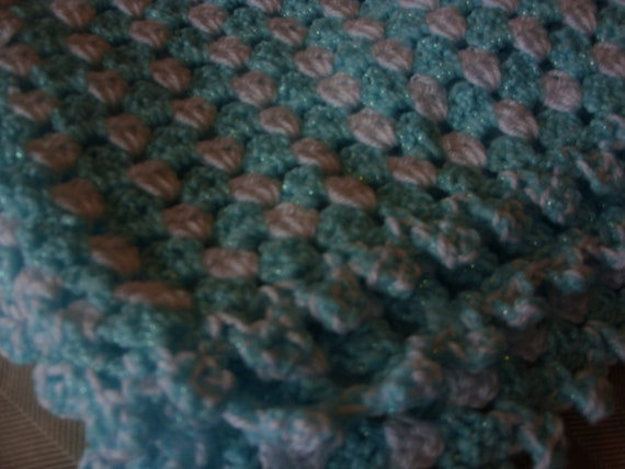 Hand made, crochet baby blanket
