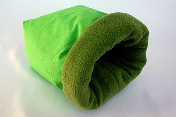 cosy sleeping bag / cuddle sack for guinea pigs, hedgehogs or sugar ...