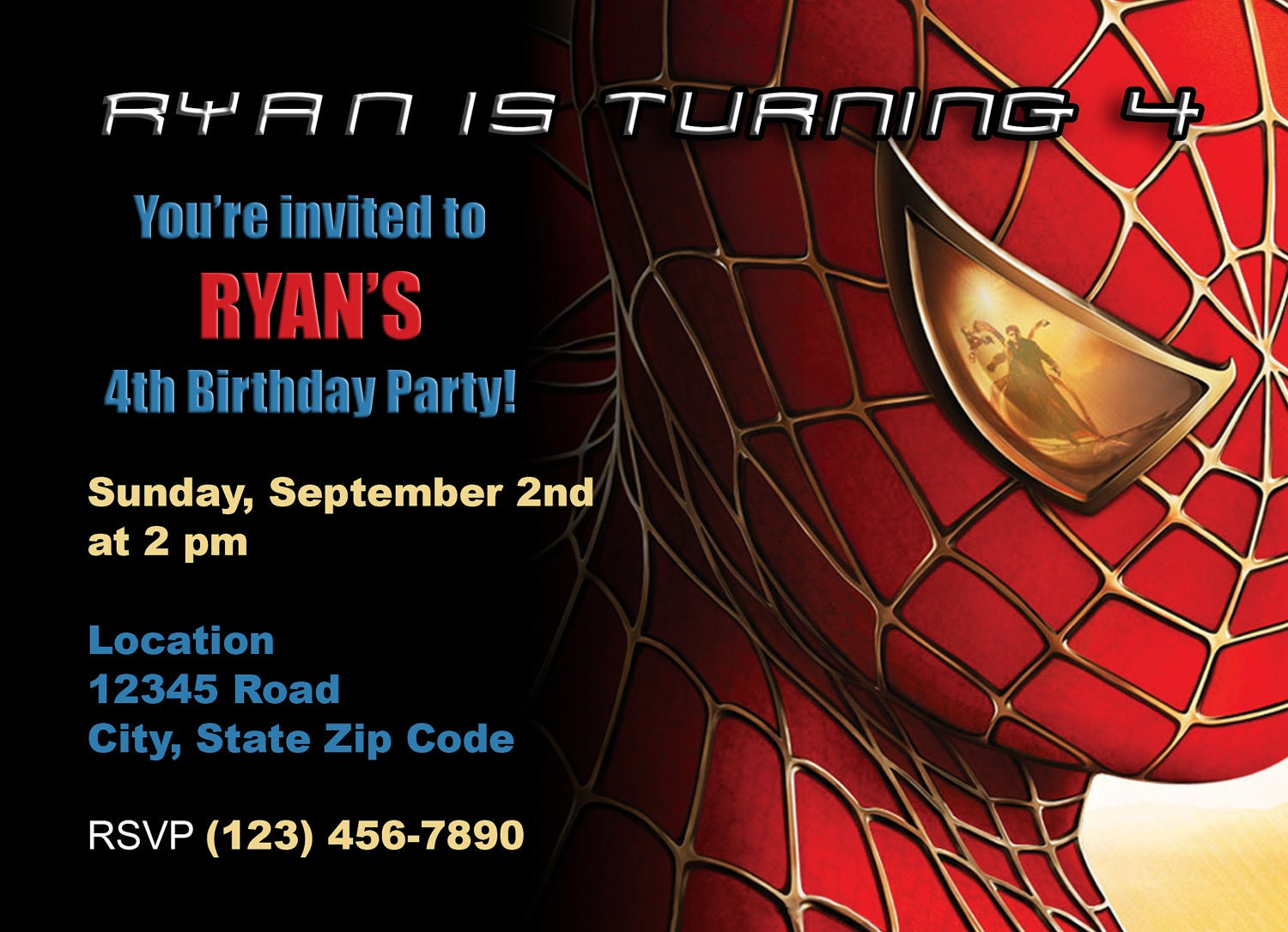 Spiderman Birthday Invite for awesome invitations design