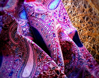Paisley Pashmina Scarf - Bridesmaid gift - Women Fashion Scarf Accessories Gifts Ideas for Her
