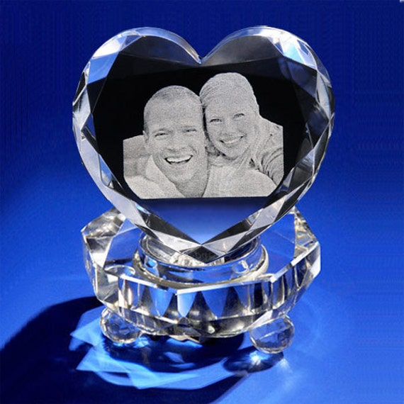 3d Crystal Photo Heart Gift Set For Valentine's Day