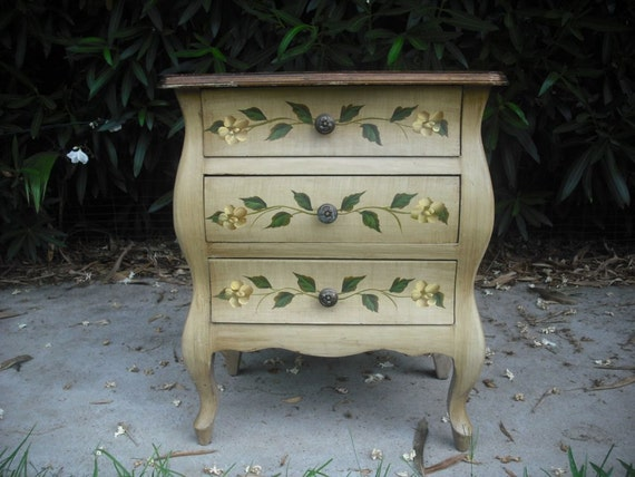 Vintage Hand Painted Nightstand