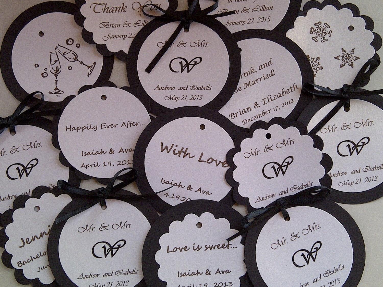 custom hearts and wine charm favors weddings bridal