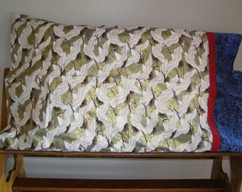Golden Crane pillow case