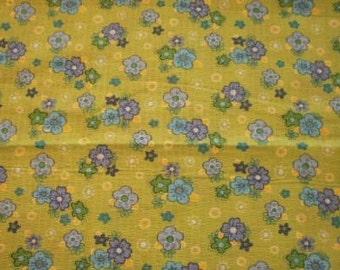 Floral design textured fabric
