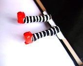 Wicked witch bookmark. Wicked witch of the East Bookmark. Red Shoes Bookmark. Inspired by the Wizard of OZ. Spring decoration