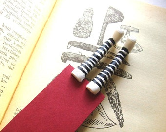 Striped socks bookmark- White socks bookmark- Wicked witch bookmark- Inspired by Wizard of OZ- gift for kids, him, her