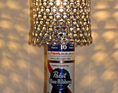 Vintage PBR Pabst Blue Ribbon Beer Can Lamp With Pull Tab Lampshade - The Mancave Essential
