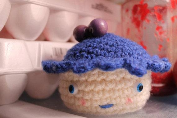 Blueberry Pie Guy  -handmade crochet, made to order