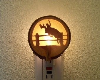 Leaping deer nightlight