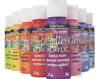 Clearence, Decoart Crafter's acrylic paint-3 bottles-choose your colour