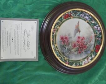 Lena Lui Humming Bird Collector Plate