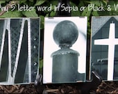 Alphabet Photography with ANY 5 LETTER WORD in a Clip Frame
