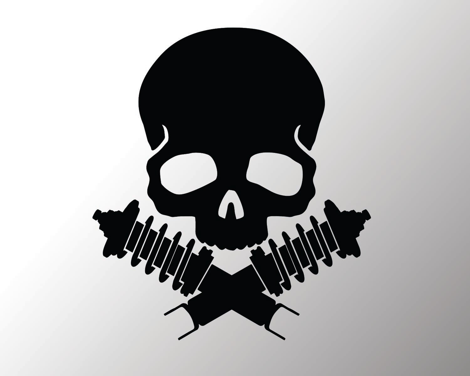 Skull And Coilovers Vinyl Decal