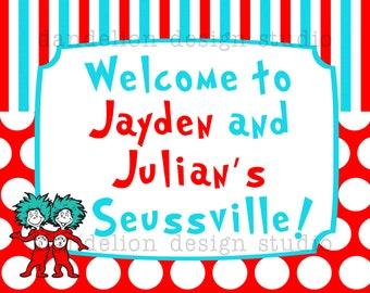 PRINTABLE Welcome Sign - Dr Seuss Party Collection - Dandelion Design Studio