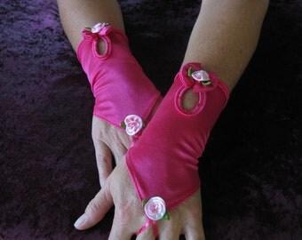 FREE SHIPPING Vintage,bridal, formal prom,burlesque shabby chic,rockabilly ,lolita, fingerless gloves