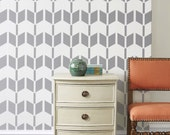 Wall Stencil  Arrow Geometric Pattern Wall Room Decor Made by OMG Stencils Home Improvements Color Paintings 0037