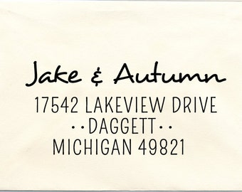 Custom Address Pre-inked Stamp, Daggett