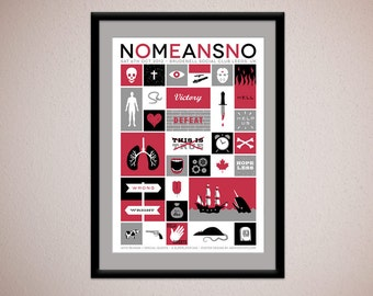 NoMeansNo - limited edition silkscreen concert poster - official commemorative gig poster