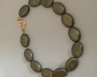 Pyrite Bracelet - Genuine Gemstone