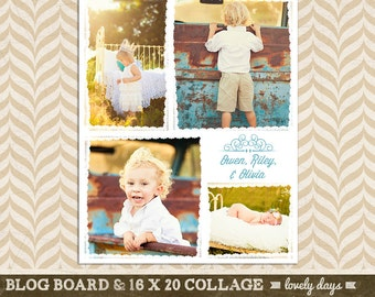 Blog Board & 16x20 Collage Template