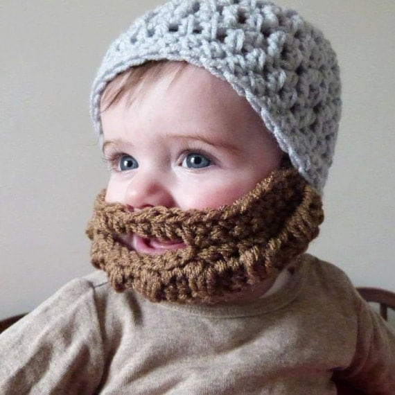 Items similar to PDF Pattern for Crochet Bearded Beanie ...