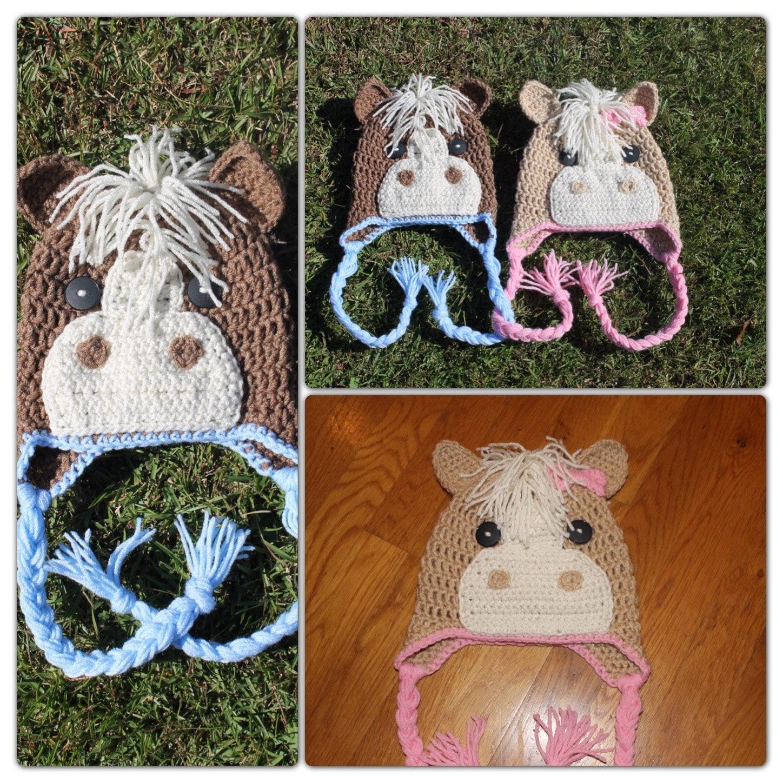 Crochet Pattern Horse Hat