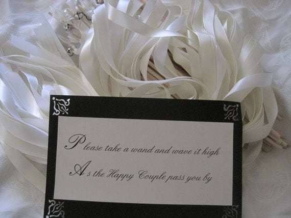 Items similar to wedding wands single ribbon wands with for Wedding wands