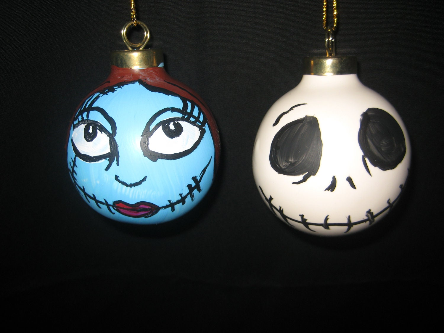 Hand Painted Jack And Sally Nightmare Before By