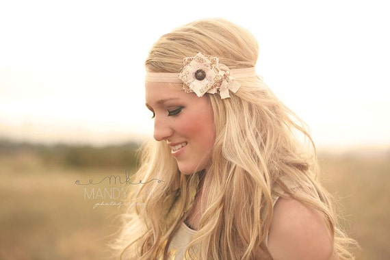 Fabric Flower Headband Womens Headbands Couture Headband