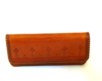 1950's Vintage Leather Clutch, Authentic Soviet Design, Unique Accessory, Wonderful Gift