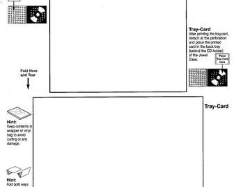insert card printing etsy. Black Bedroom Furniture Sets. Home Design Ideas