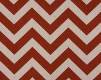 One Half Yard Zig Zag in Rust 100% Cotton