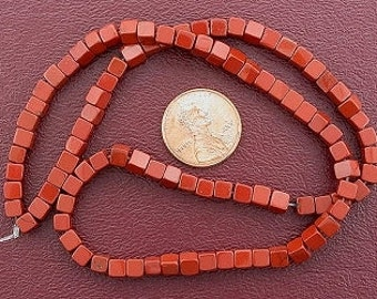 4mm cube gemstone red jasper gem beads