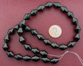 bicone gemstone blackstone beads