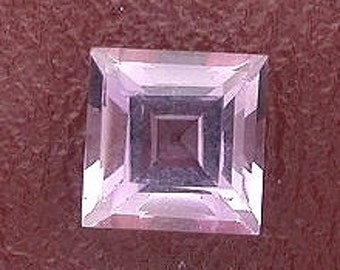 7mm square amethyst gem stone gemstone faceted natural