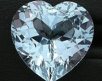 17mm heart sky blue topaz gem stone gemstone faceted